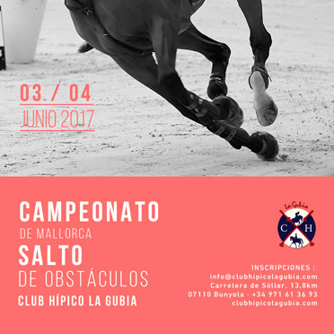 Championship of Mallorca Jumping of Obstacles 2017 Club Hípico La Gubia